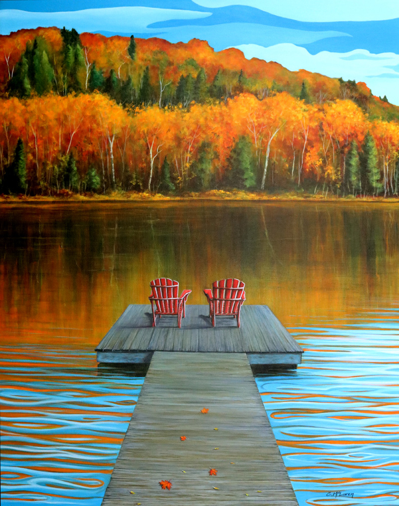 Cottage Country 24 x 30 - By Cynthia McLaren
