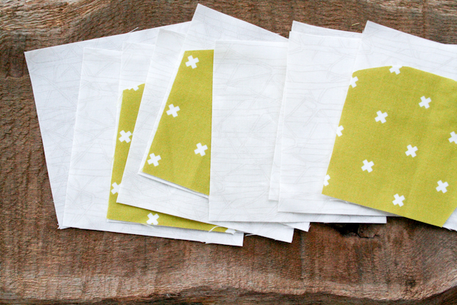 modern citron arches blocks from Carolyn Friedlander's Savor Each Stitch | Lovely and Enough