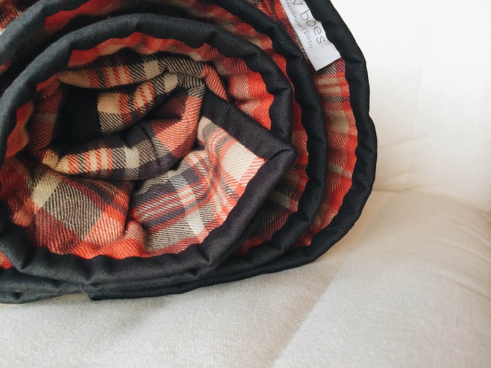 cozy plaid quilt with classy dark grey binding | Lovely and Enough