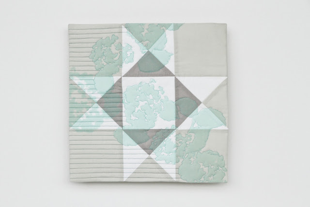 modern mint printed ohio star quilt: crisp, subtle, and gorgeous | by Lovely and Enough