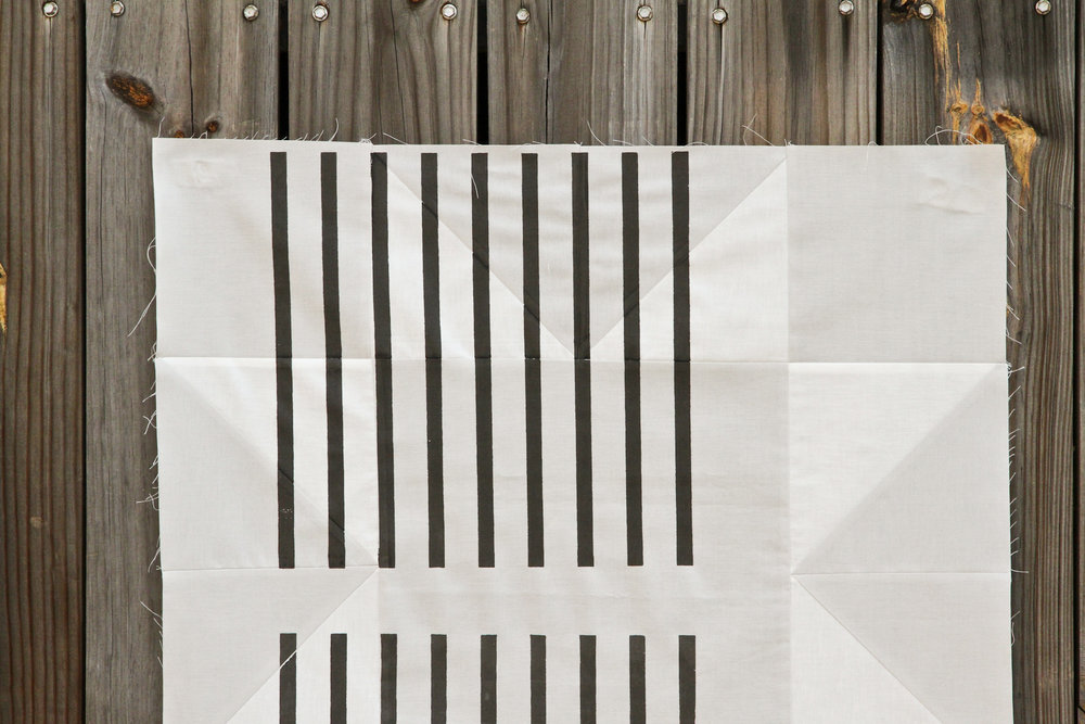 Lenten Twelve quilt sketch #3 with modern minimal black lines over-printed | Lovely and Enough