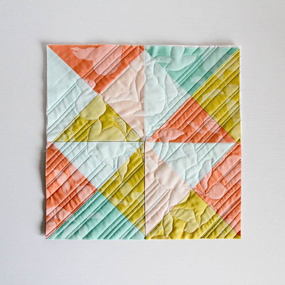 printed and quilt fresh modern mini quilt by LovelyandEnough