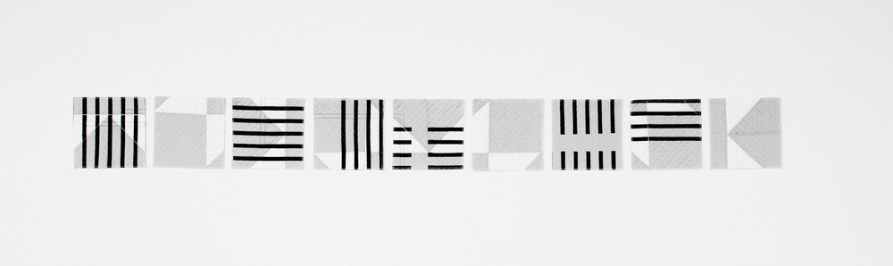 rearrangeabledeconstructed and printed black and white modern quilt