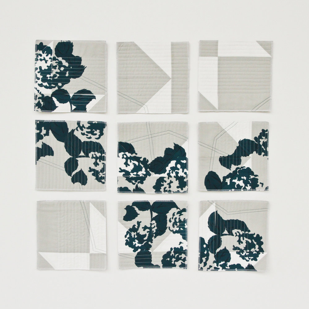 Chopped Teal Modern Deconstructed Quilt || designed, pieced, printed, and quilted byLovely and Enough