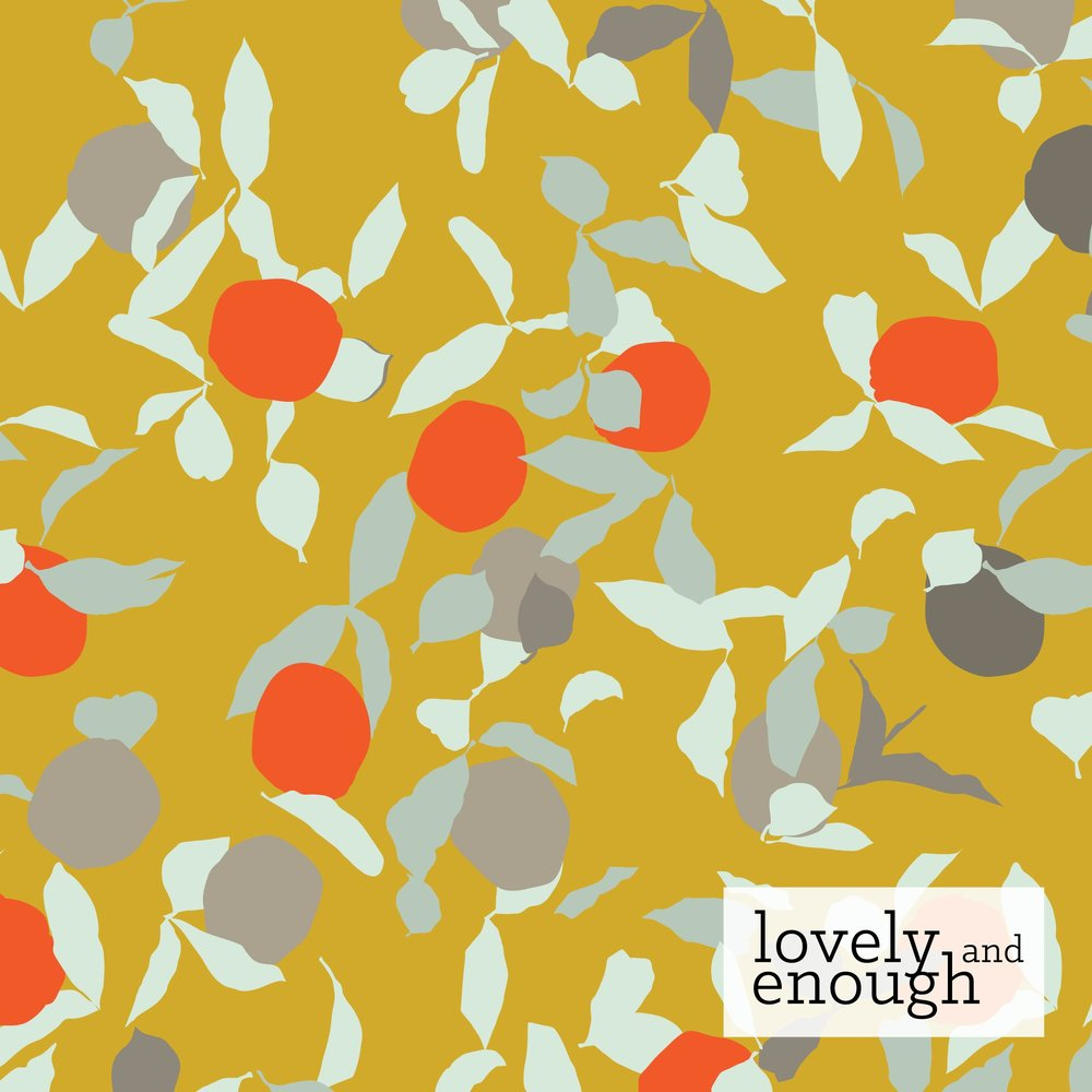 Pattern: Thriving, Colorway: Summer, Collection: Coastal Orchards | Kelsey Williams for Benartex Fabrics