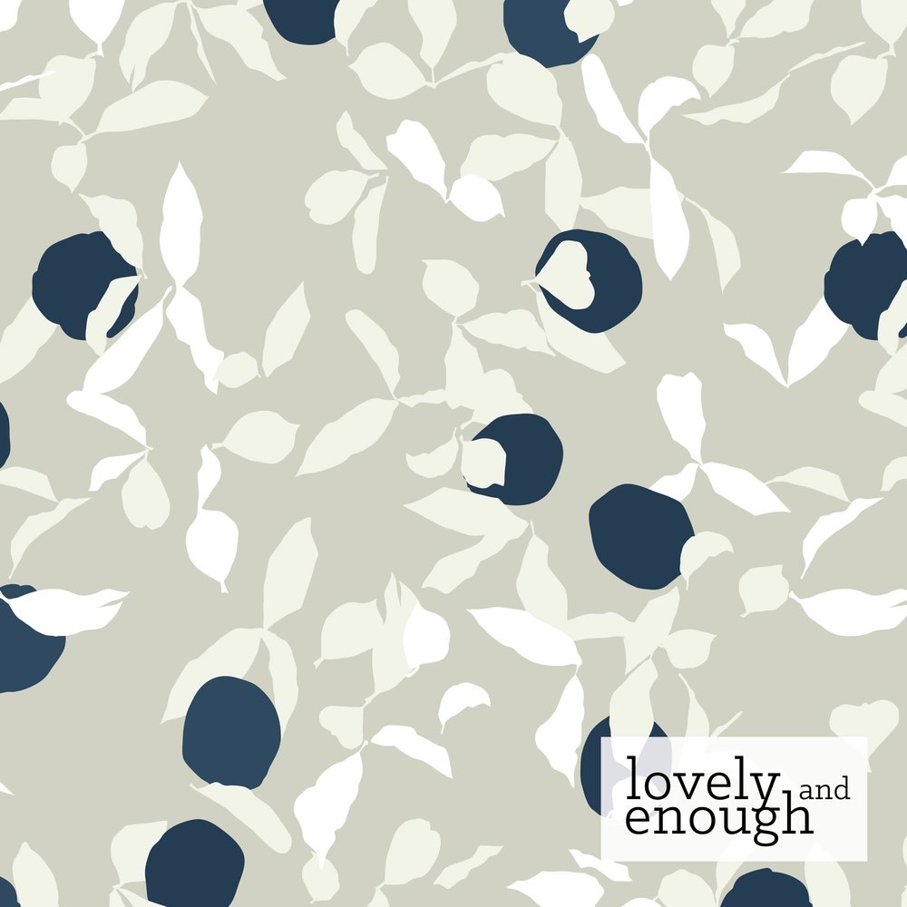 Pattern: Thriving, Colorway: Winter, Collection: Coastal Orchards | Kelsey Williams for Benartex Fabrics