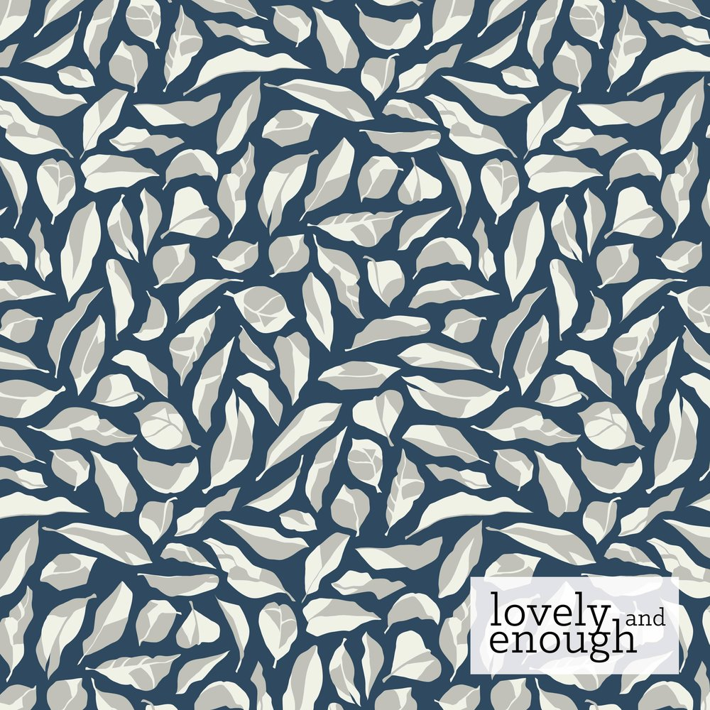 Pattern: Swirling, Colorway: Pond, Collection: Coastal Orchards | Kelsey Williams for Benartex Fabrics