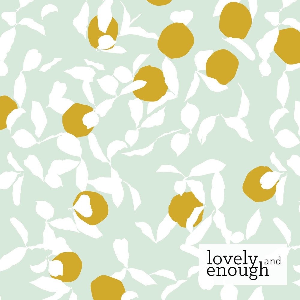 Pattern: Thriving, Colorway: Spring, Collection: Coastal Orchards | Kelsey Williams for Benartex Fabrics