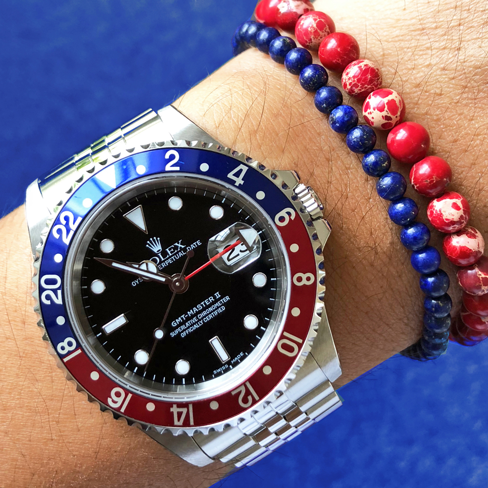 Rolex Submariner x Baxter&Baxter  Deep Blue 4mm  &  Red Sea 6mm  bracelets.
