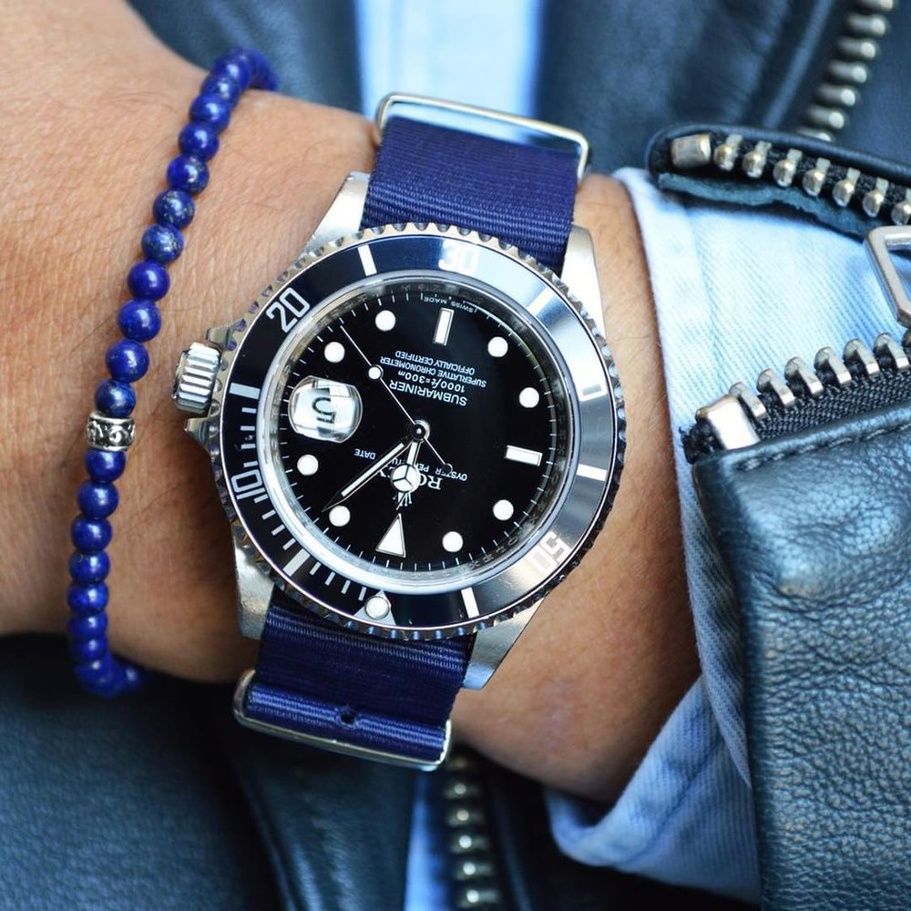 Rolex Submariner x Baxter&Baxter  Deep Blue 4mm  bracelet.