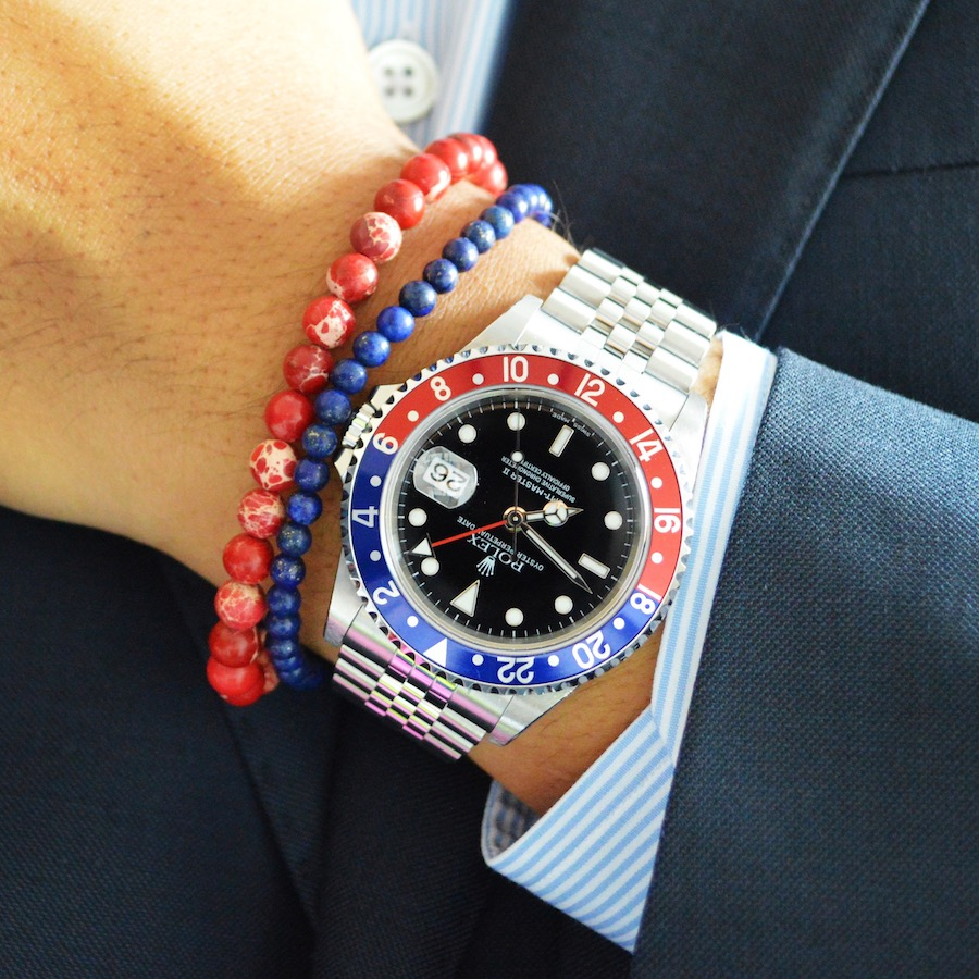 Rolex Submariner x Baxter&Baxter  Deep Blue 4mm  &  Red Sea 6mm  bracelets.