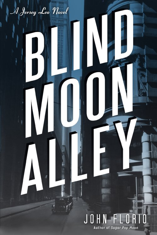"""Blind Moon Alley (Florio)    An albino bartender named Snowball meets up with an old friend on death row. The second novel in the Jersey Leo crime series.   """"Readers will cheer for [Jersey Leo], a tough guy with a heart of hurt.""""  –  Publishers Weekly (starred review)    """"Hardboiled enough to remind readers of Hammett and Chandler."""" – Kirkus Reviews    """"A fun, fast read that bodes well for another Jersey Leo installment."""" – Philadelphia Inquirer"""