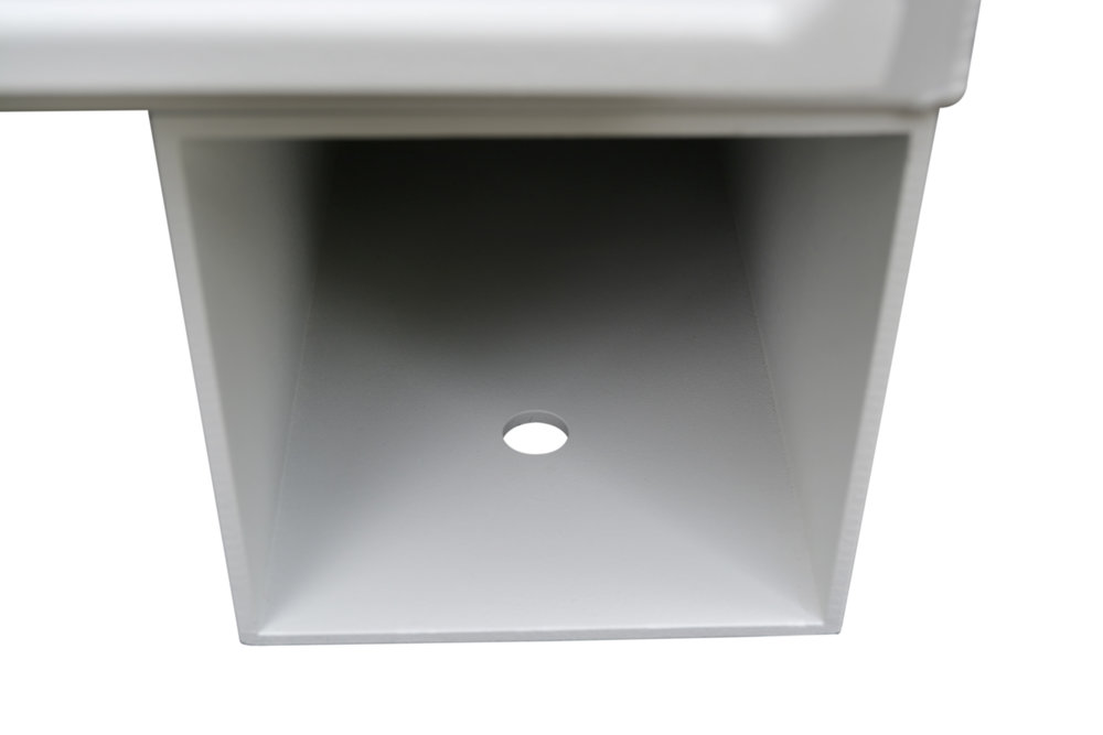 """Designed with """"through""""feet IOIOBox provides multiple options to weigh down, chain, or otherwise secure the enclosure. These feet have four holes for easy mounting to concrete pads or even casters."""