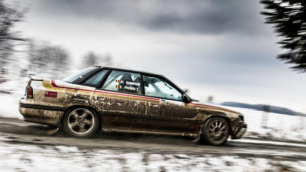 Emile Premont and Jean-Claude Boniverd in Subaru Legacy 4WD Turbo