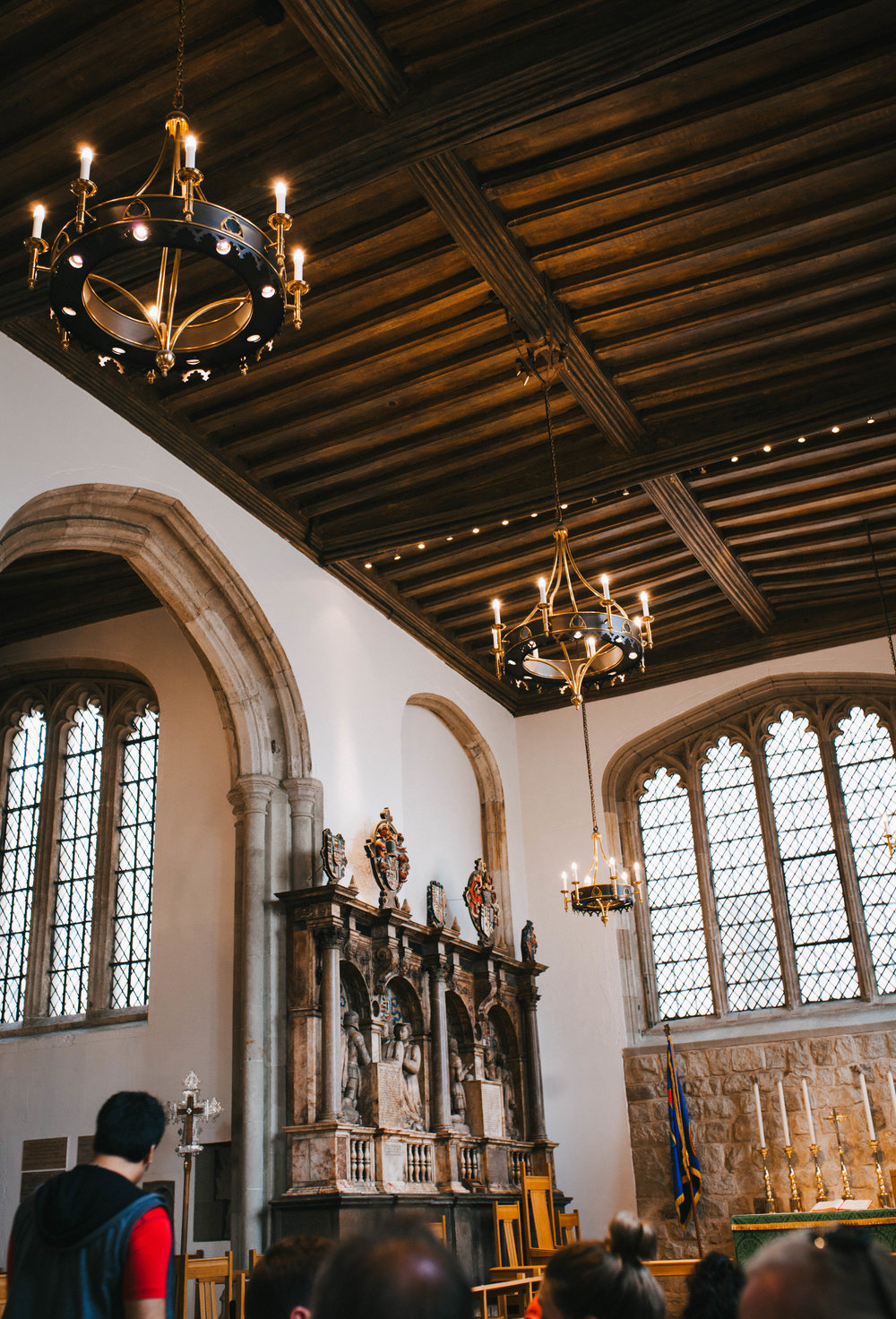 Inside the Church of St. Peter ad Vincula. Final resting place of Anne Boleyn, Catherine Howard, and hundreds of others killed at the Tower of London