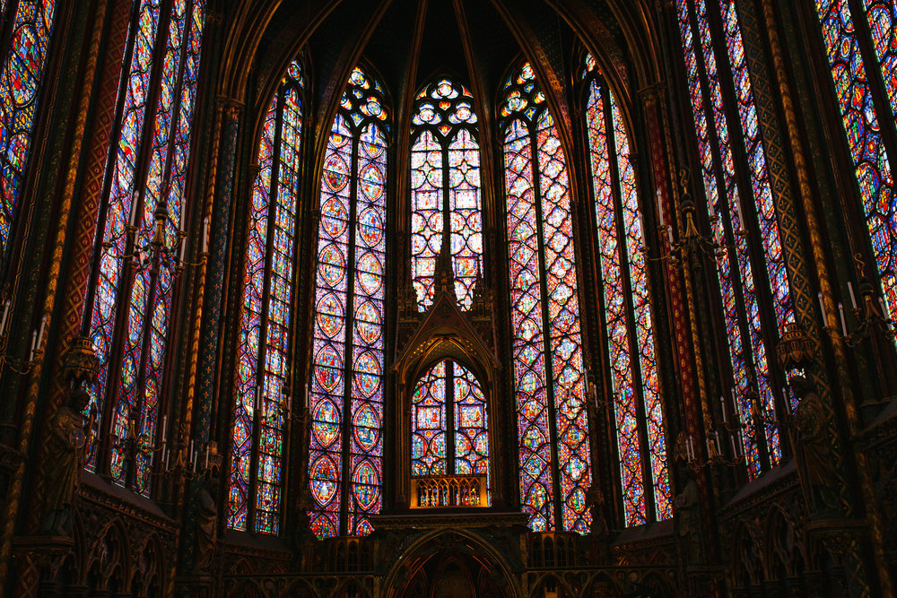 Sainte- Chapelle. Gorgeous.