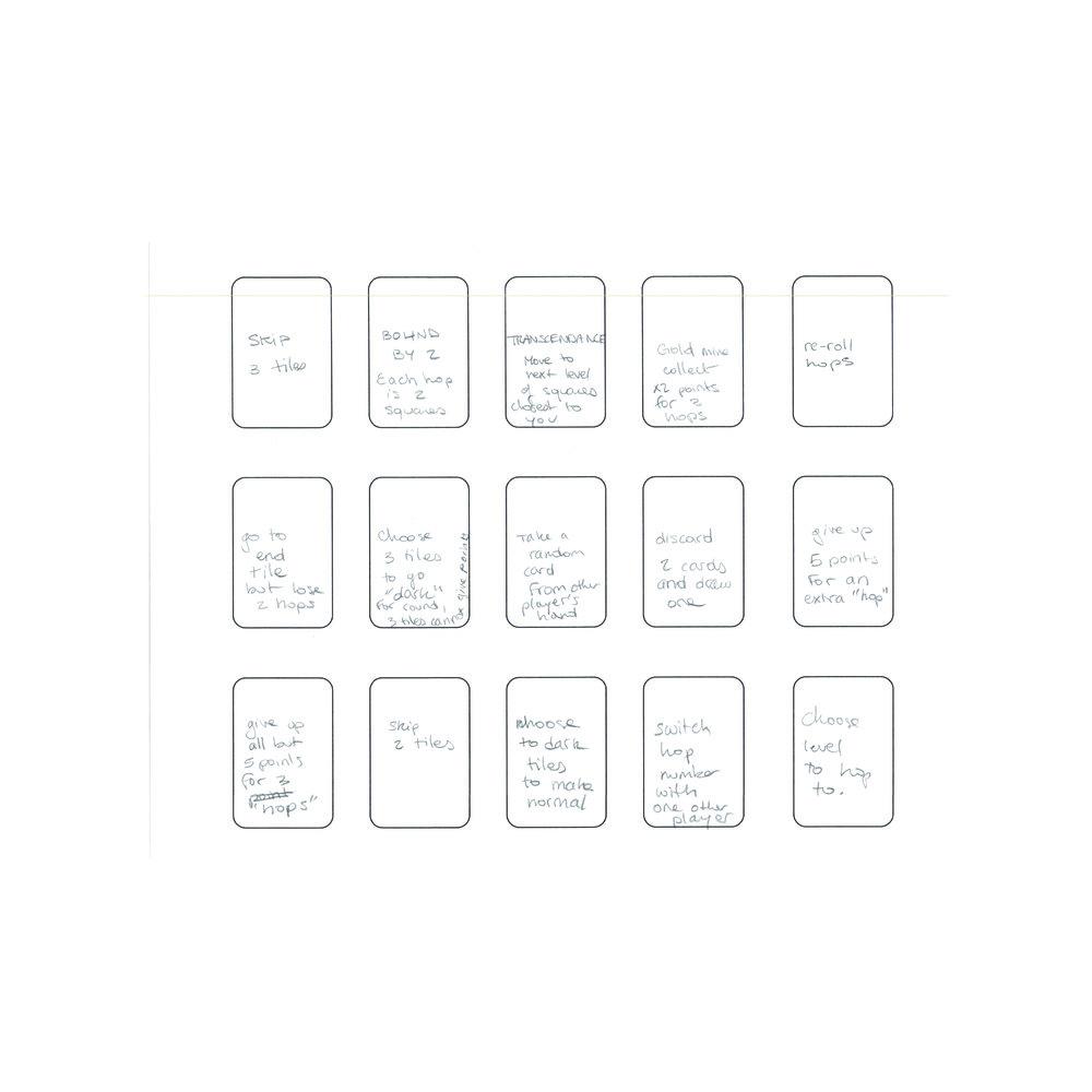 Hopscotch Explorer: First Draft Card Design