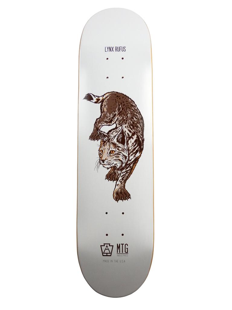 """Lynx Rufus 8.0"""" Skateboard Deck"""