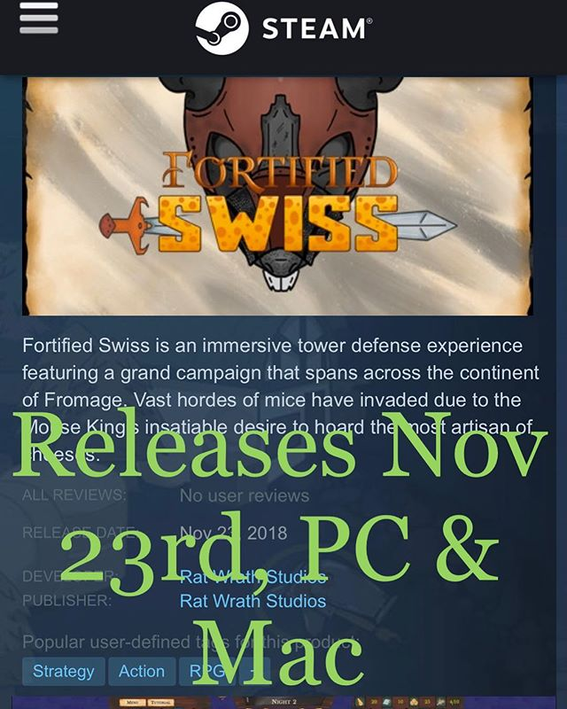 Can you save Fromage? Be sure to add Fortified Swiss to your wishlist!  #towerdefense #games #videogames #rpg #lvling #crafting #fun #mac #pc #unity #developer