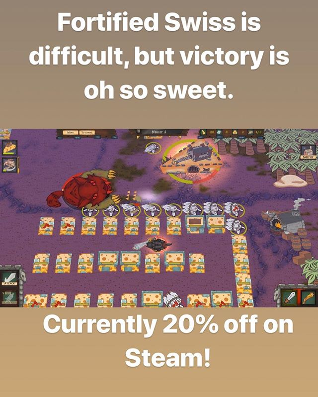 Don't let the mice and their Cat Ogres claim victory! Take up arms and fight back! Buy Fortified Swiss now on Steam!  https://store.steampowered.com/app/910230/Fortified_Swiss/  #games #videogames #pc #mac #fun #rpg #adventure #survival #towerdefense #gaming #strategy #indie #unity #gamers #gamer #developer #steam #life #gamer4life #game #gameplay #gamedesign #art #gameart