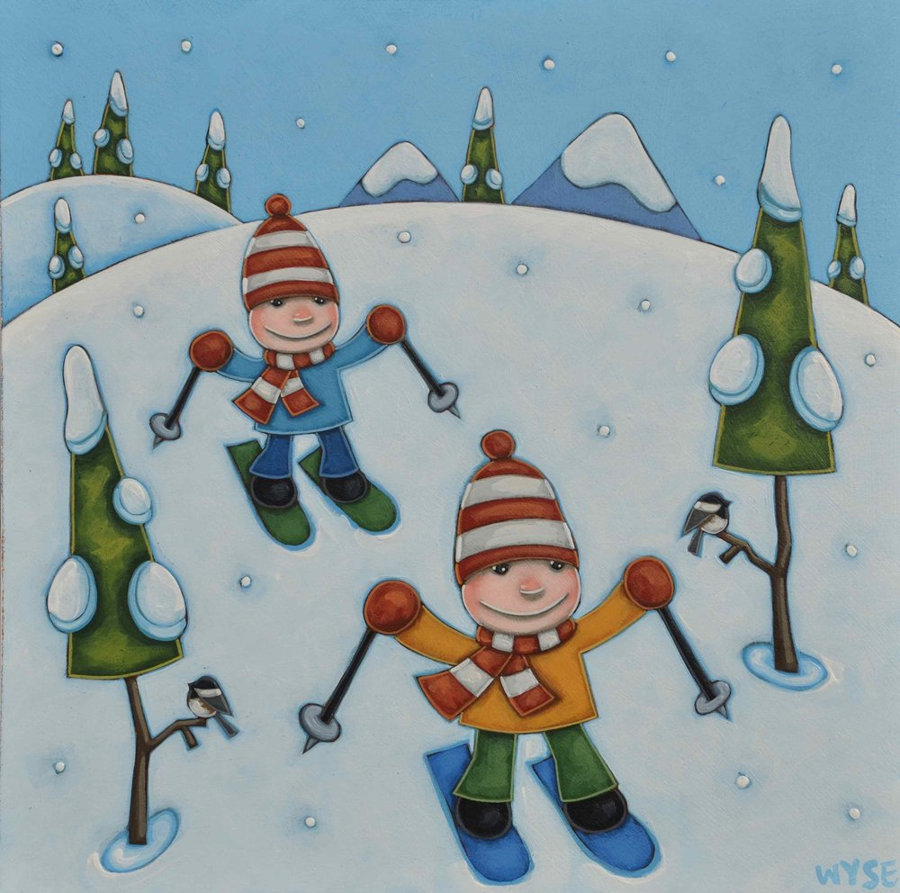 RACE TO THE LODGE 16 x 16 in..jpg