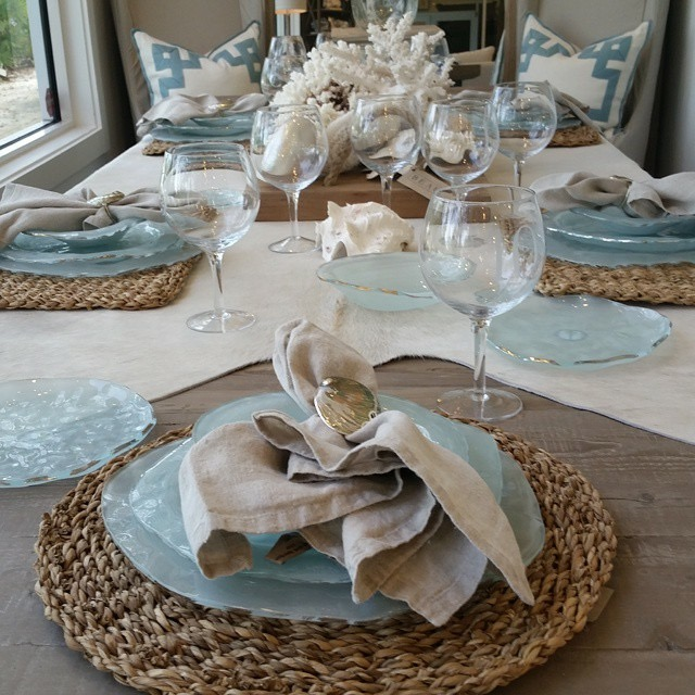 Beach House Table Setting