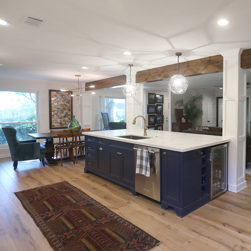 Danny and Mackenzie decided early on they wanted an open floor plan to connect their kitchen, dining, and living areas.