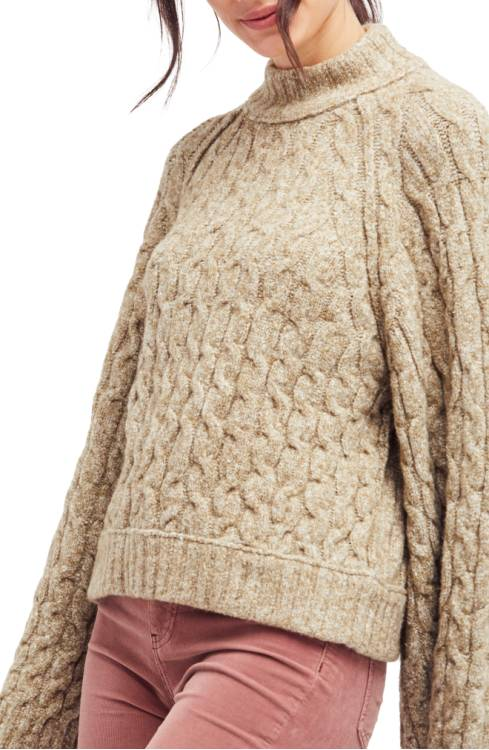 828b47e4f5 Free People Snow Bird Cable Knit Sweater