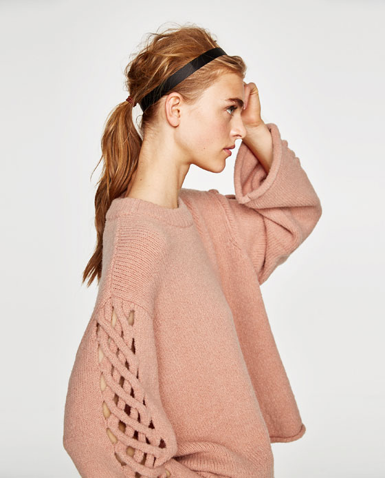 Zara Sweater with Braided Sleeves