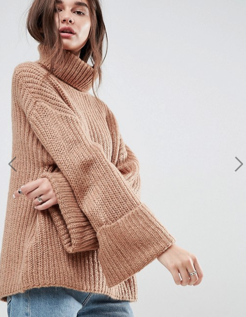 ASOS Oversized Sweater with Deep Cuffs
