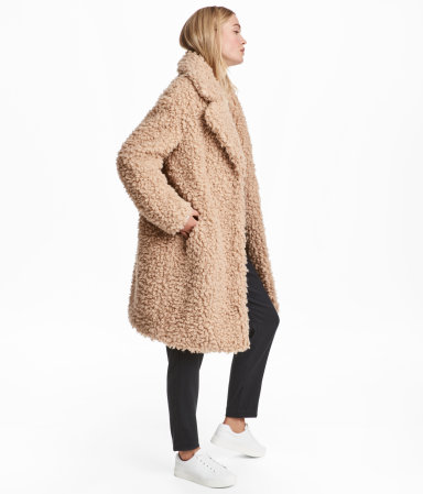 H  M Faux Fur Coat