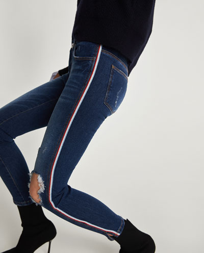 Zara Damaged Skinny Jean