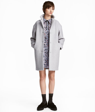 Hm Wool- Blend Boucle Coat