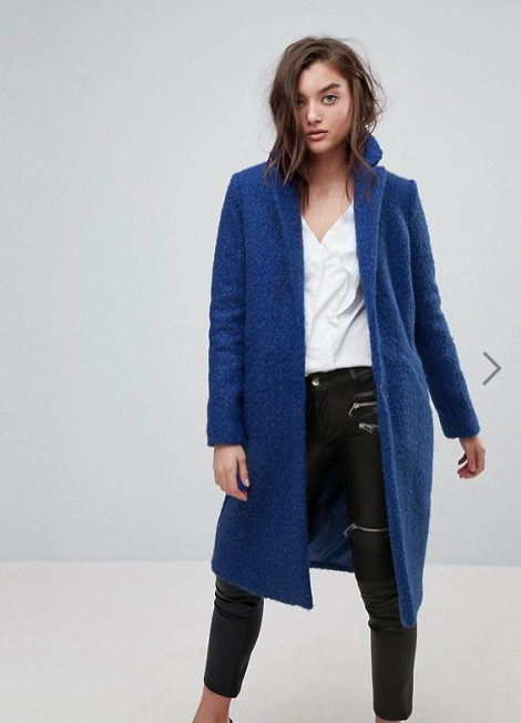 River Island Button Down Over Coat