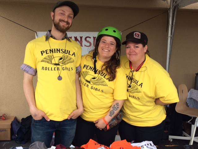 PRG skaters and volunteers at Maker Faire