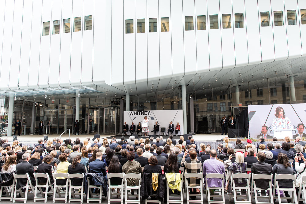 Whitney Museum of American Art. 2015 Dedication of the Whitney with First Lady Michelle Obama.