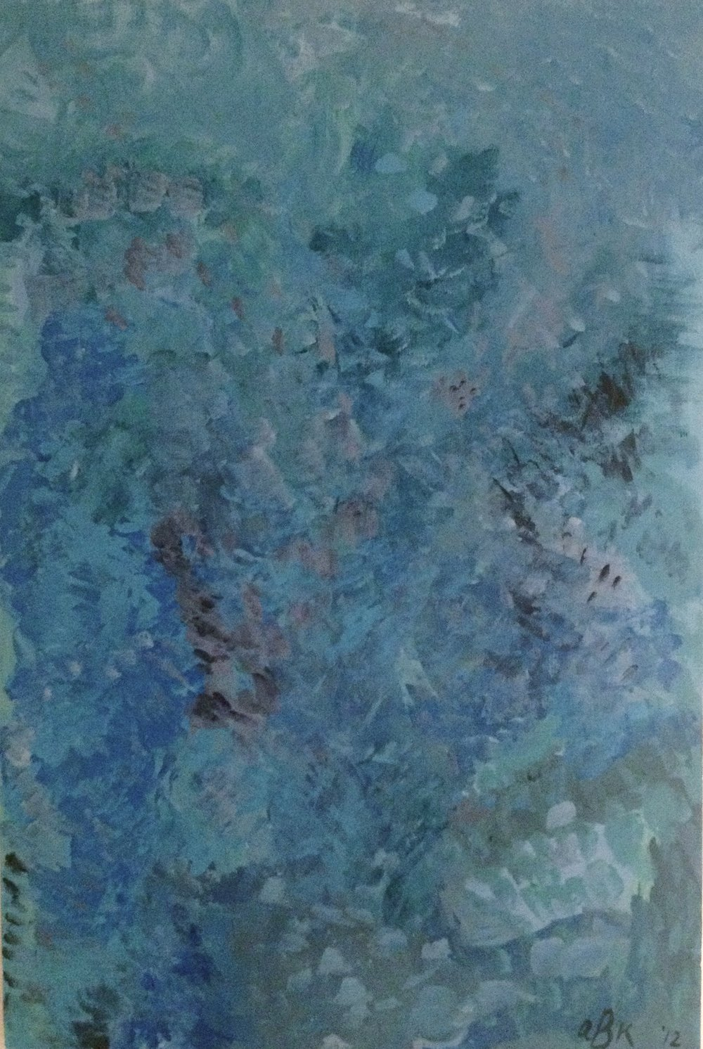 Blue, 2012.0Acrylic on Canvas.