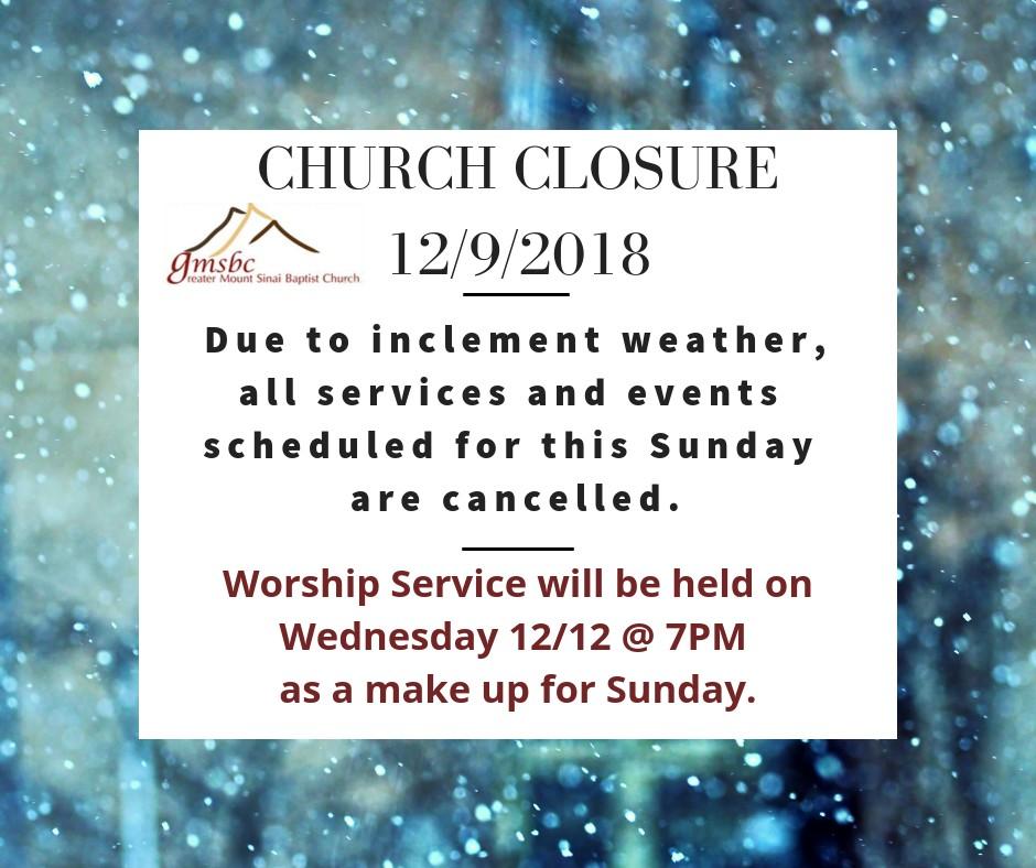 Church Announcements — Greater Mt  Sinai Baptist Church | Charlotte, NC