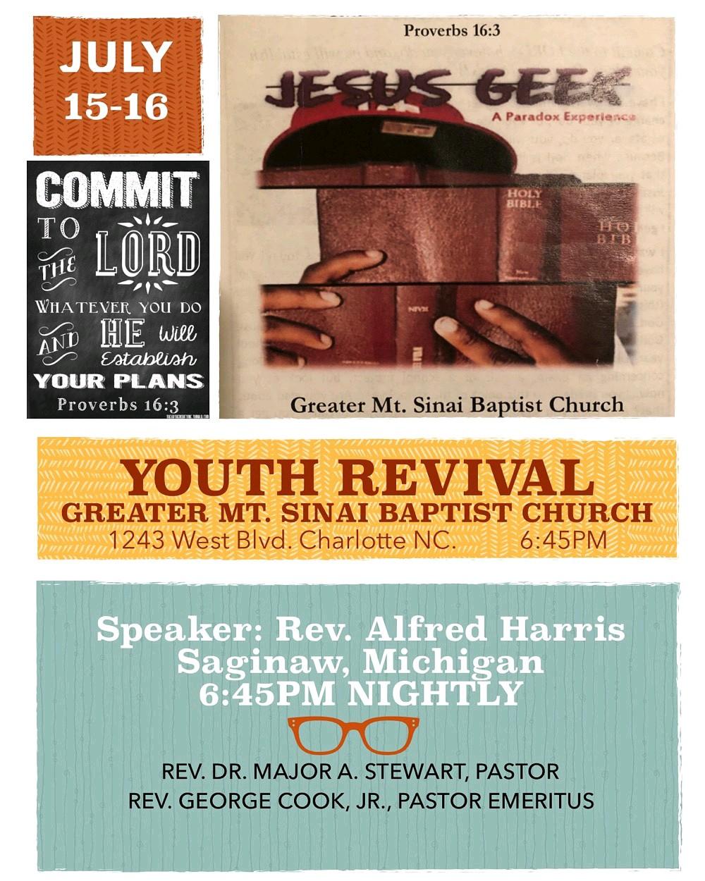 Calendar — Greater Mt  Sinai Baptist Church | Charlotte, NC