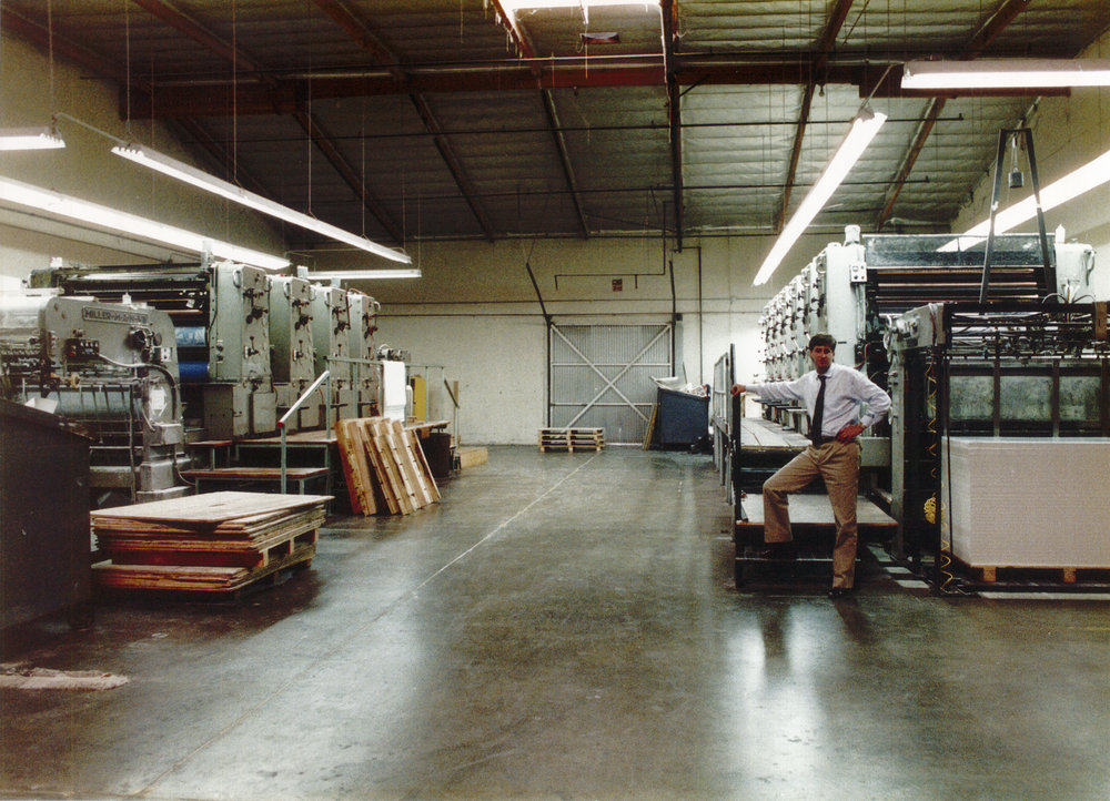 Some of Superior's first equipment at 3055 Bandini Blvd.  Photograph taken 1990.