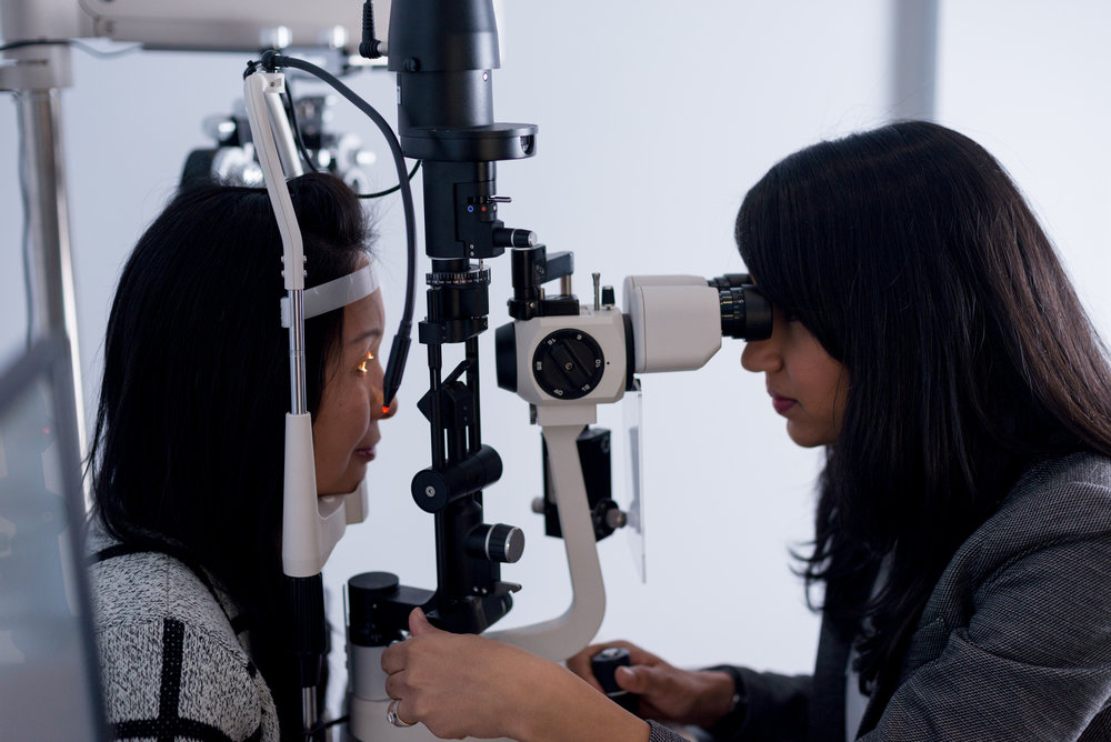 Assessing ocular health at a microscopic level.