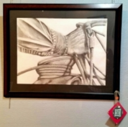 Sandhills Roper,  graphite drawing by Priscilla Magaardan Andrews of Burwell.