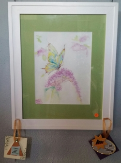 BEST OF SHOW!   Nectar of Life, watercolor by  Sherian Jordan Craft