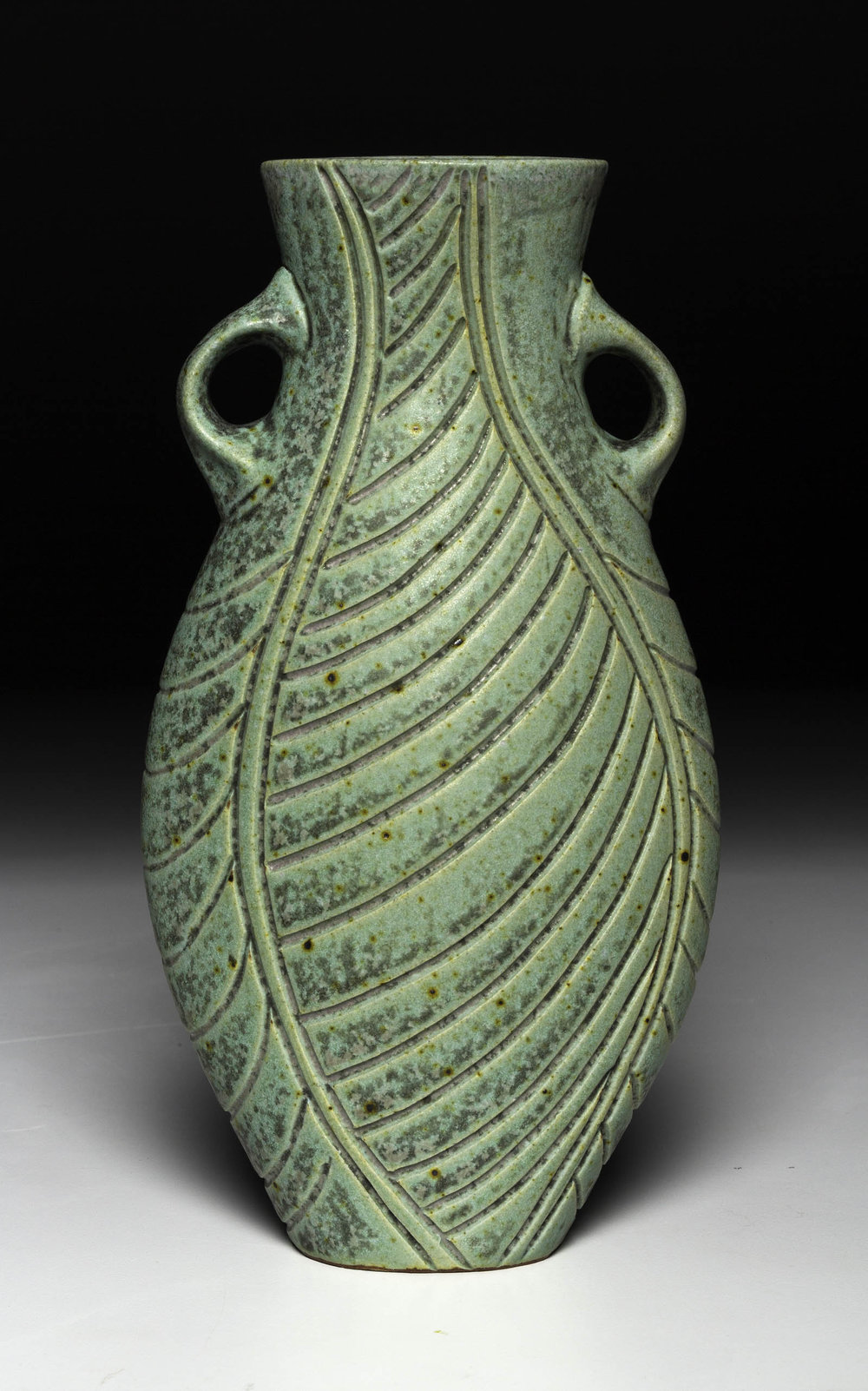 Carved Handled Vase