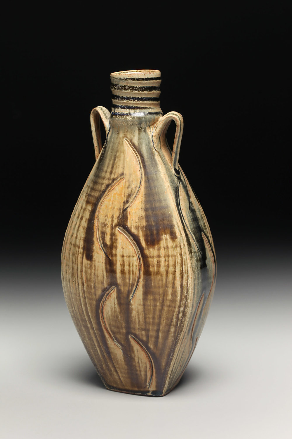 Carved Flask