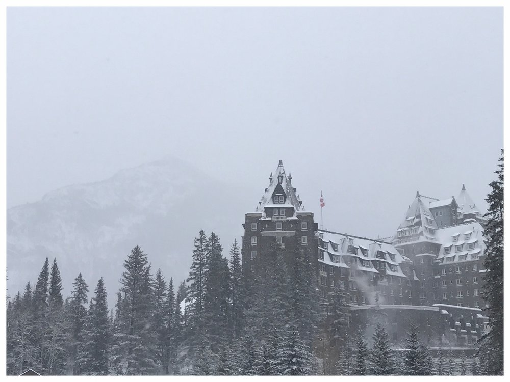 A SNOW DAY AT THE FAIRMONT BANFF SPRINGS HOTEL
