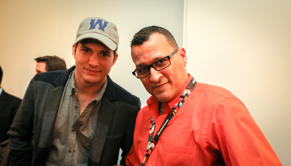 Ashton Kutcher at CES 2015, Las Vegas