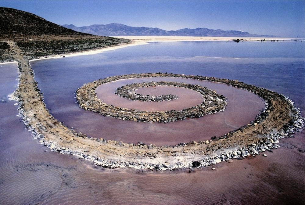 Spiral jetty by robert smithson