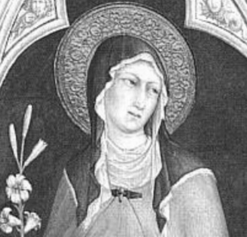 "Claire of Assisi  ""Our labor here is brief, but the reward is eternal. Do not be disturbed by the clamor of the world, which passes like a shadow."""