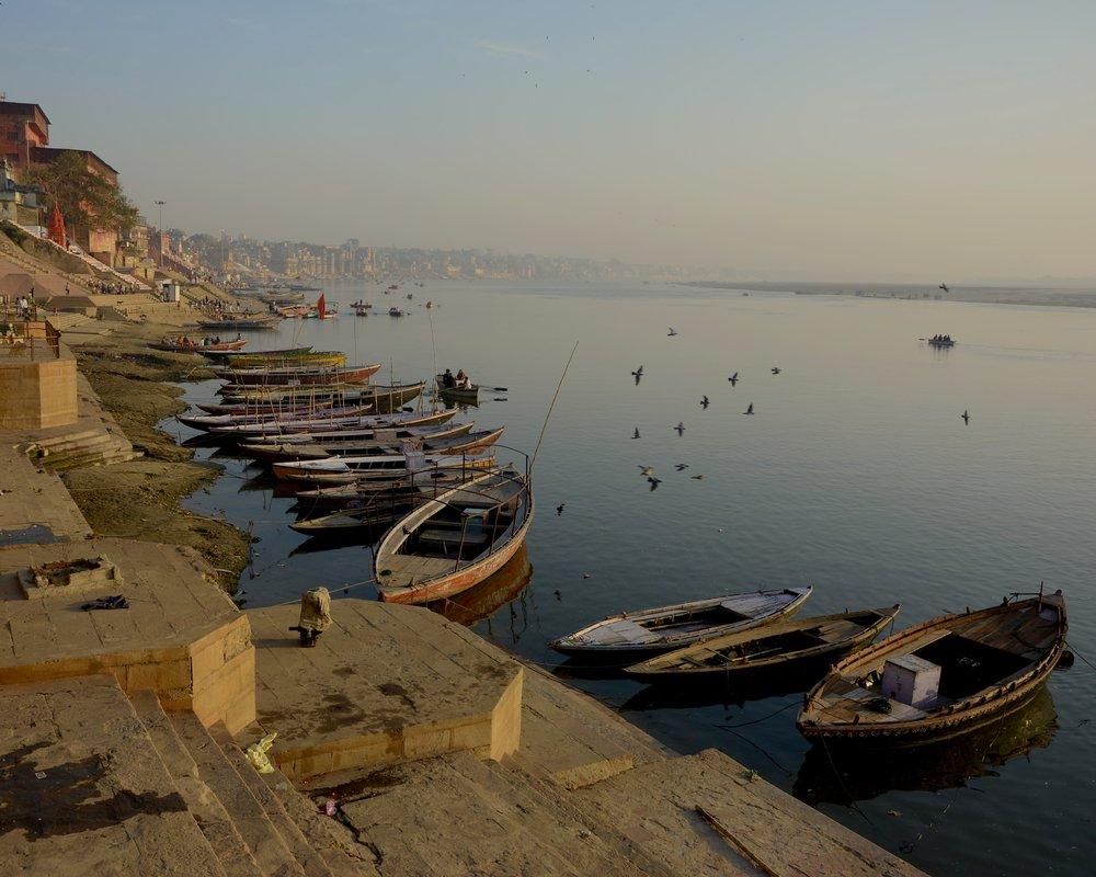 The boats of Varanasi.